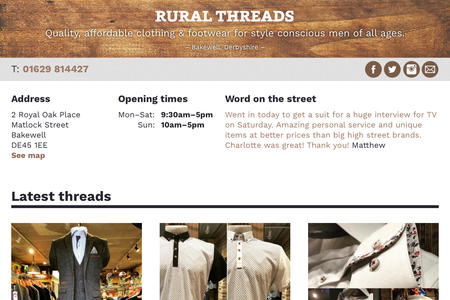 Rural Threads website screen grab thumb
