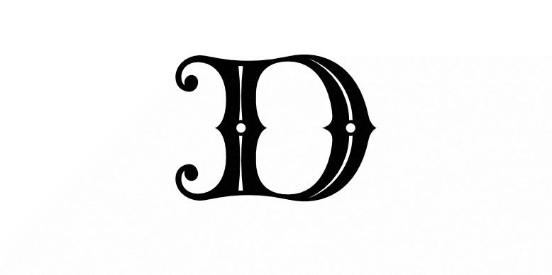 A fancy Victorianesque letter D
