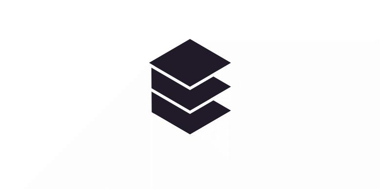 3D letter E. Negative space
