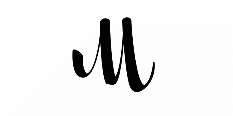 A letter M