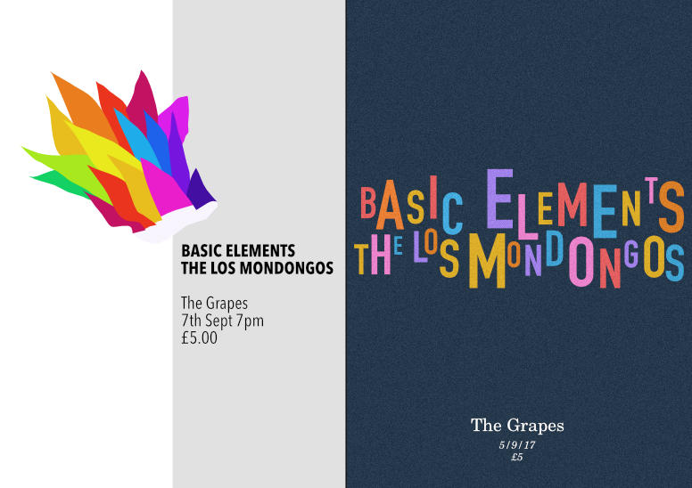 Gig poster – Basic Elements – 2up