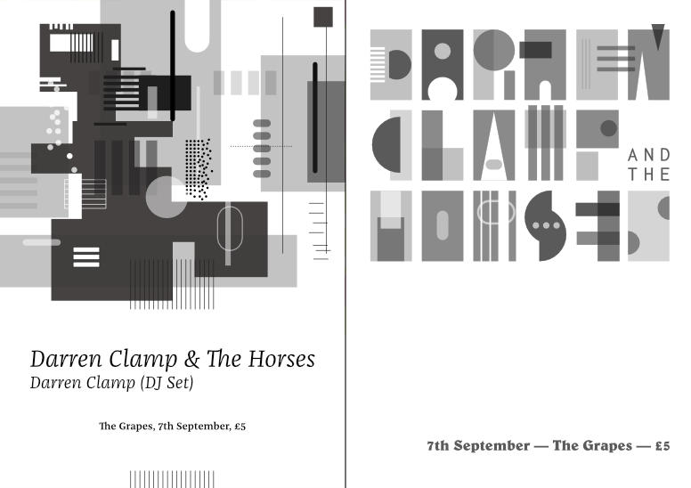 Gig poster – Darren Clamp – 2 up