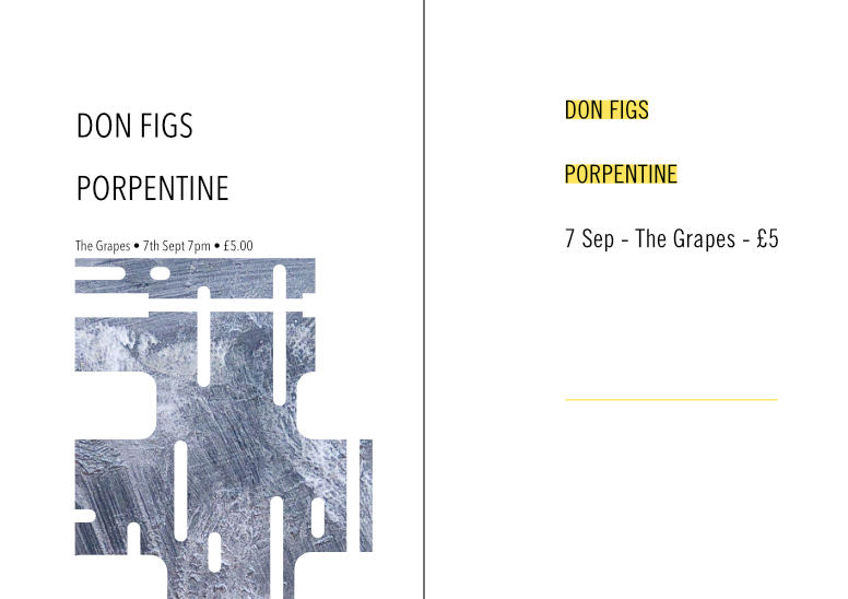 Gig poster – Don Figs – 2up