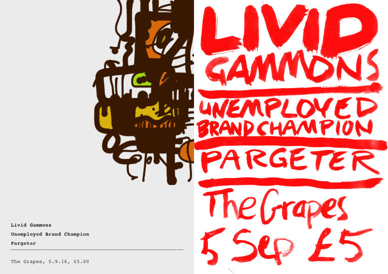 Gig poster – Livid Gammons – 2up