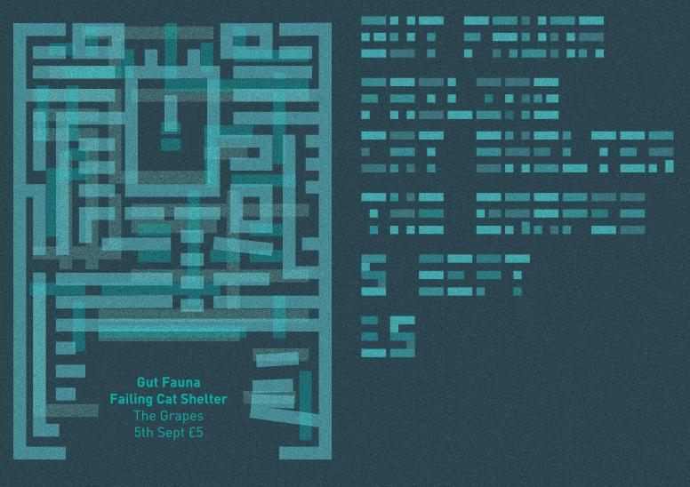 Gig poster – Gut Fauna – 2up