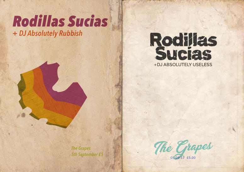 Gig poster – Rodillas Sucias – 2up
