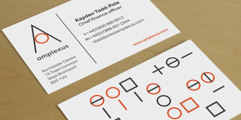A - Business card mockup