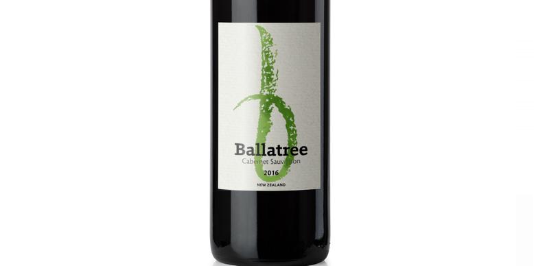 b - wine bottle label