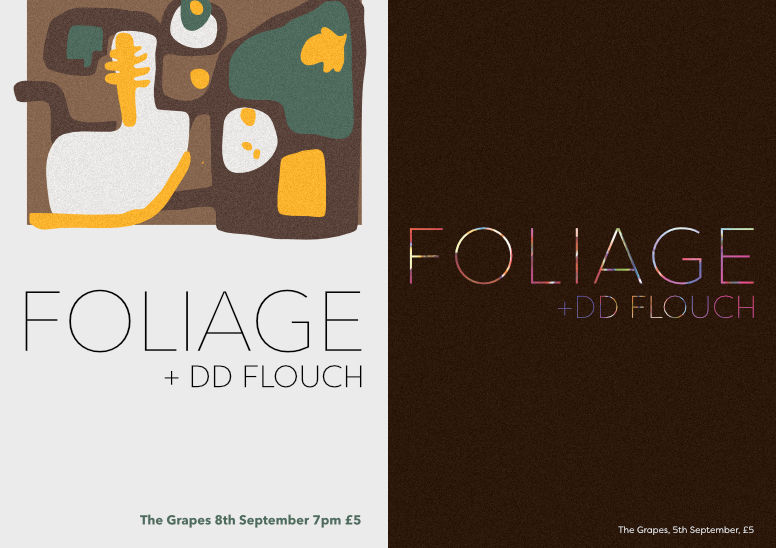 Gig posters – Foliage – 2up