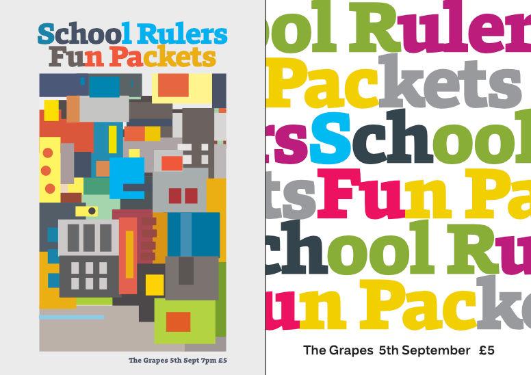Gig posters – School Rulers –versions