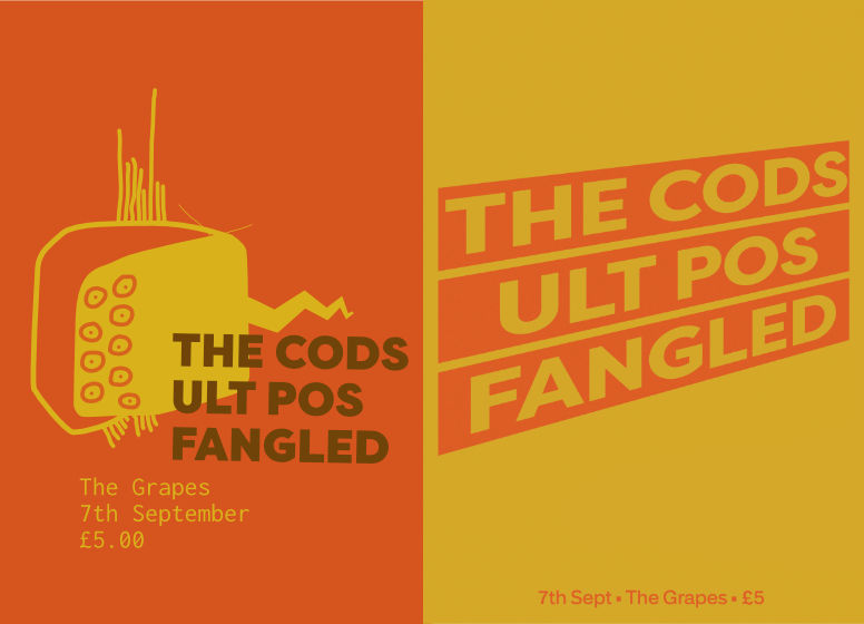 Gig Poster - The Cods - 2 versions