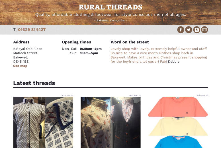 Rural Threads website screen grab