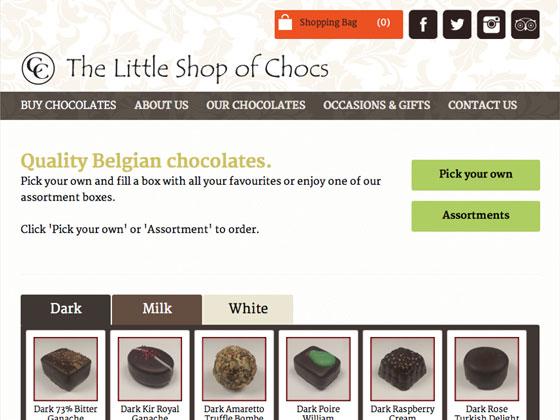 Little Shop of Chocs website