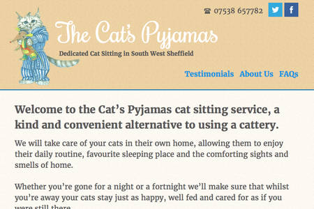 The Cat's Pyjamas website screen grab thumb