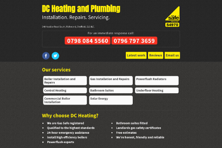 Plumbing website screen grab t